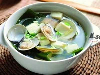 豆腐海带蛤蜊汤——促进代谢缓解焦虑 蛤蜊海带豆腐汤